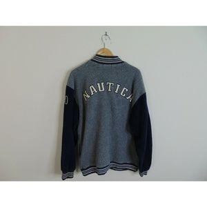Vintage Nautica XL Quarter Fleece Varsity Jacket